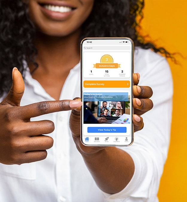 Everyday Inclusion app on screen